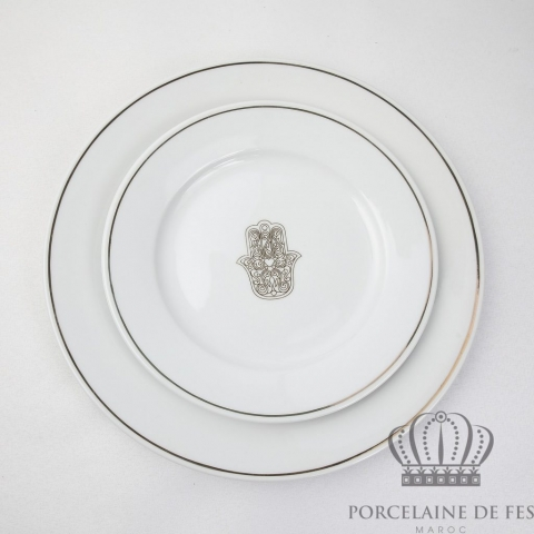 Assiette plate & assiette à dessert